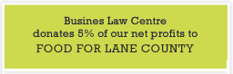 We donate 5% of our profits to Food for Lane County